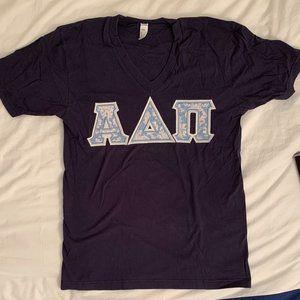 Alpha Delta Pi Sewn Letter Shirt